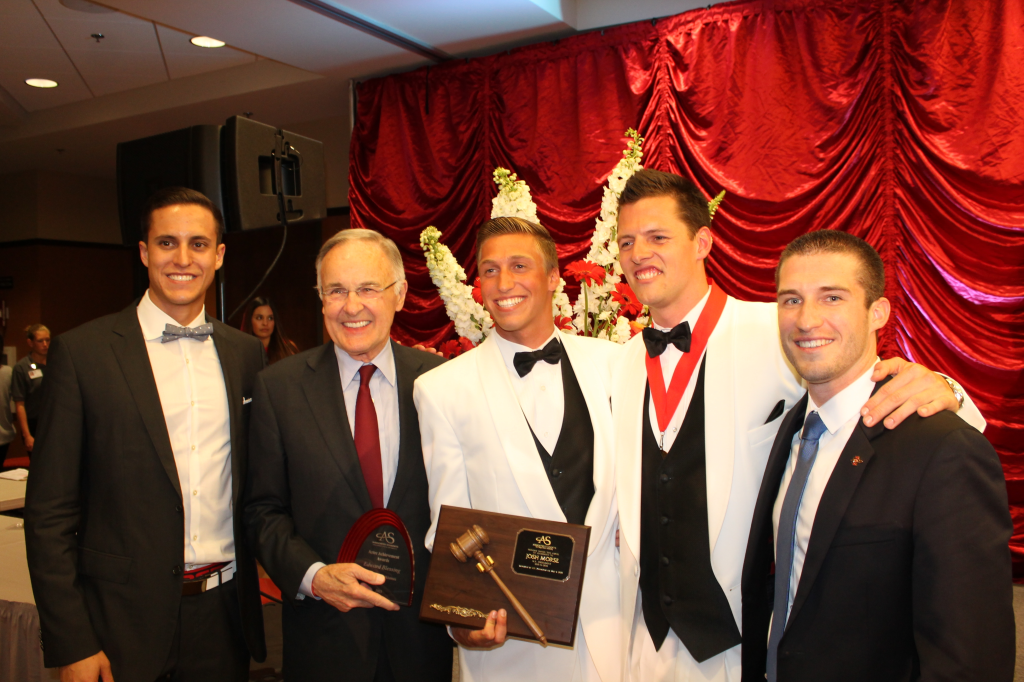 Past Associated Student Presidents (left to right) Cody Barbo, Ed Blessing, Josh Morse, Rob O'Keefe and Grant Mack.